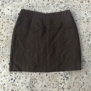 Dkny Skirts - Vintage DKNY Brown Linen Mini Skirt with Pockets